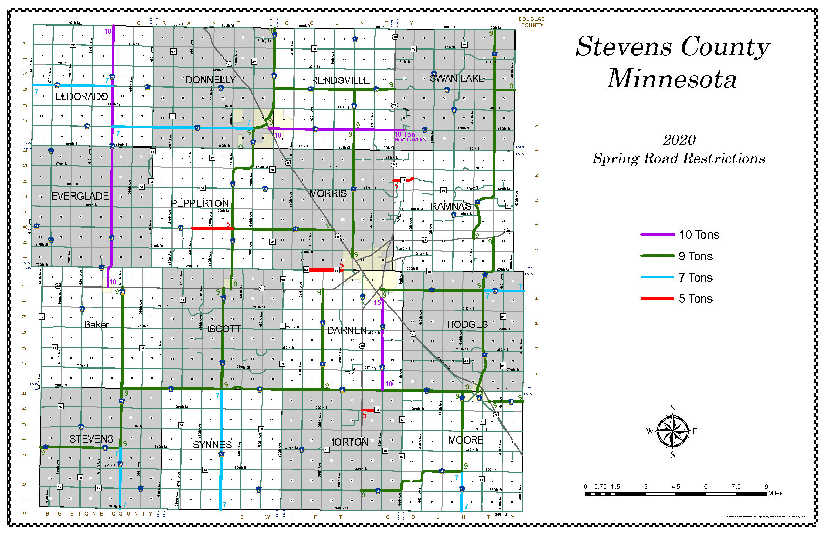 Spring Road Restrictions Map